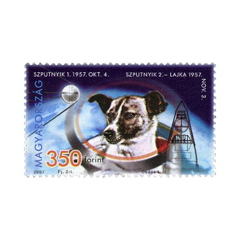 Un timbre à l'effigie de Laïka, morte dans l'espace