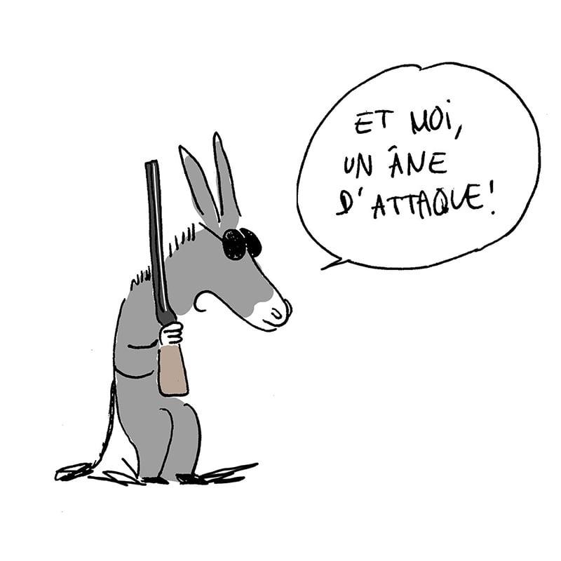 Méfiez-vous des animaux de guerre!