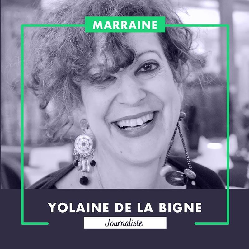 La journaliste Yolaine de la Bigne est marraine de la Marche.
