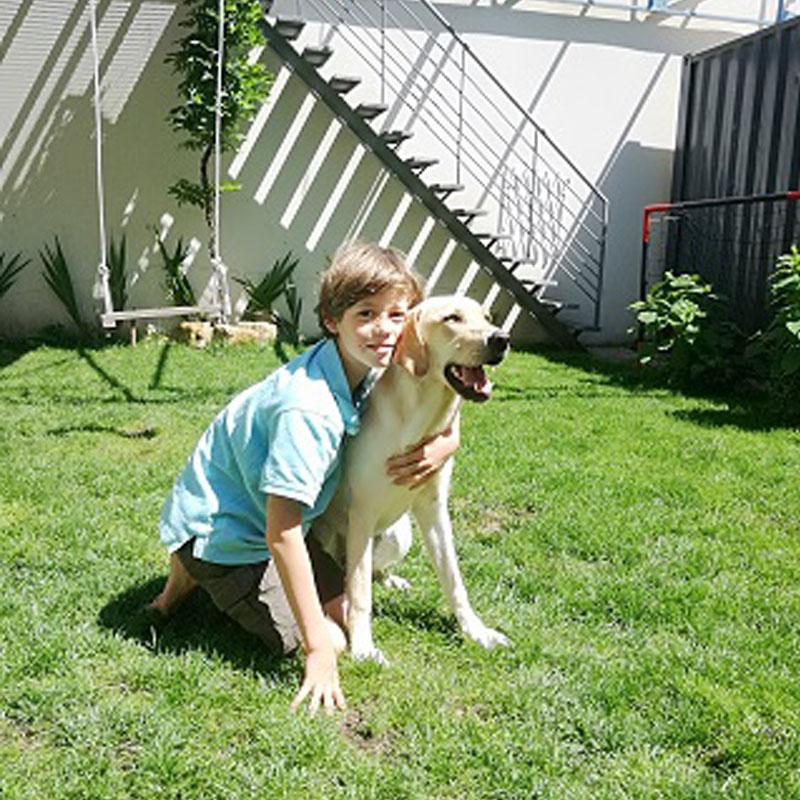 Clément et son chien
