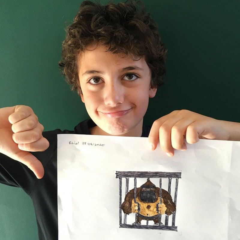 Eliot est sensible à la captivité des animaux