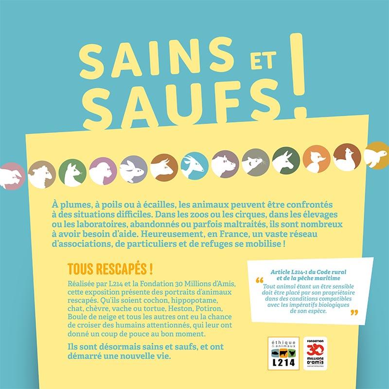 Exposition SAINS ET SAUFS / Panneau 1