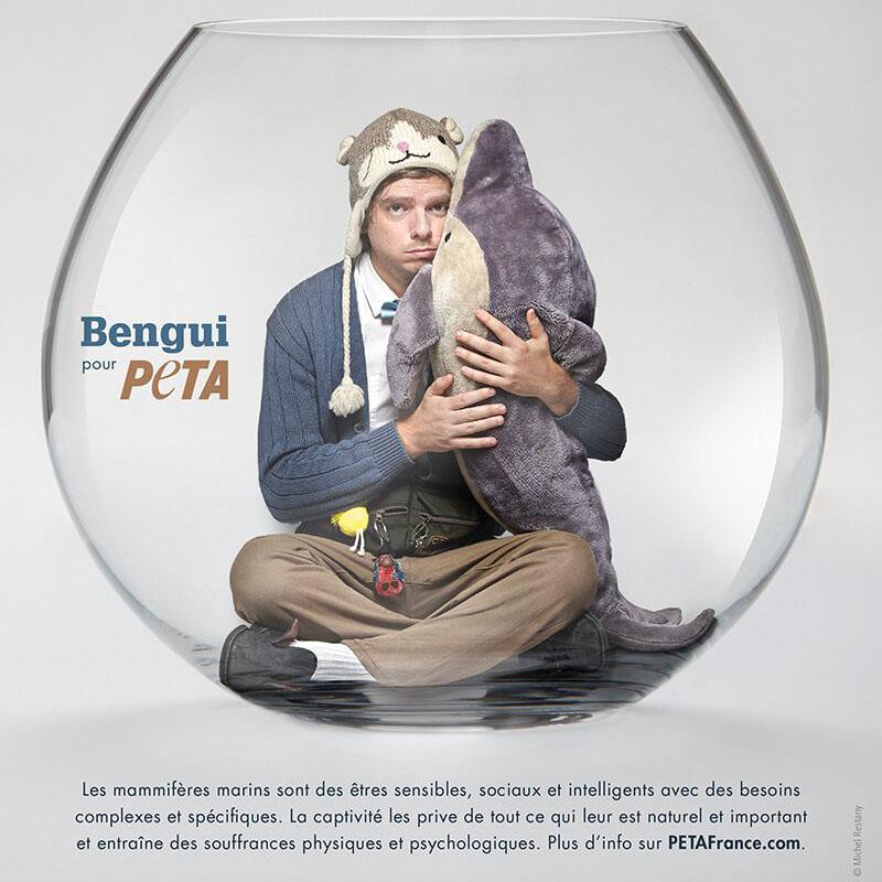 Une campagne de PETA pour les mammifères marins en captivité