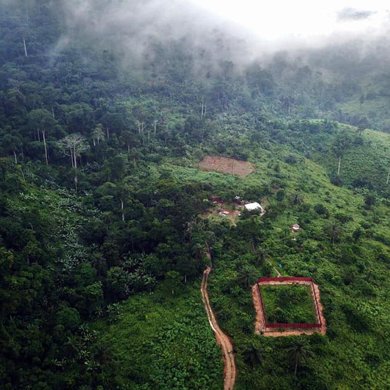 Le refuge de P-WAC, en République Démocratique du Congo.