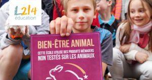 Une école s'engage pour les animaux de laboratoire !