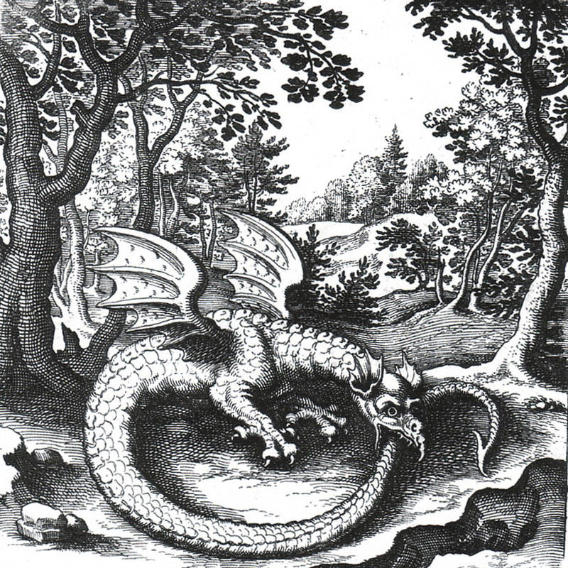 L'ouroboros est un serpent imaginaire qui se mange la queue