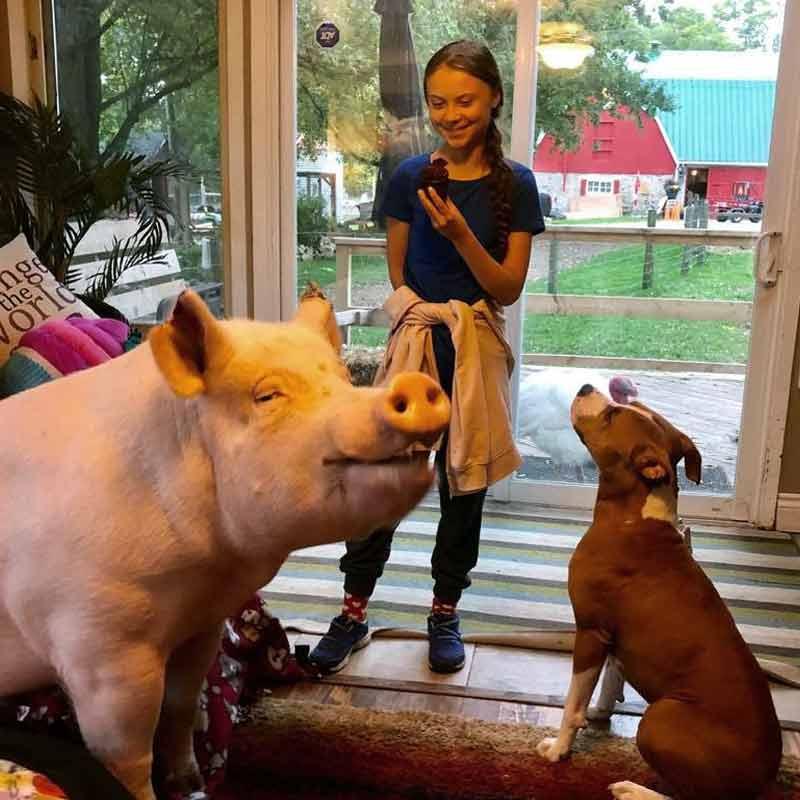 Greta Thunberg en visite chez chez Esther