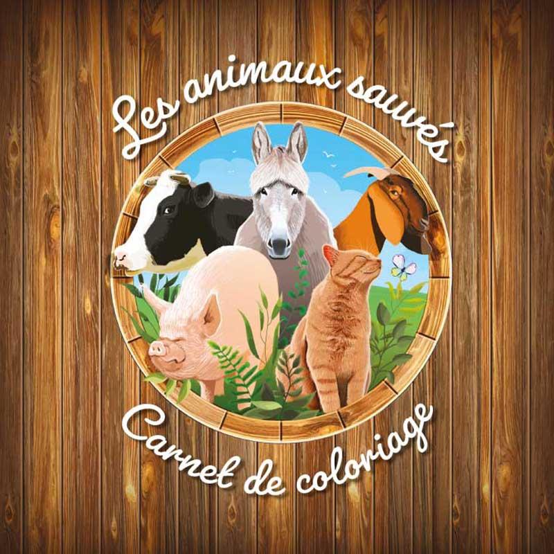 Les animaux sauvés - Carnet de coloriage pour enfants