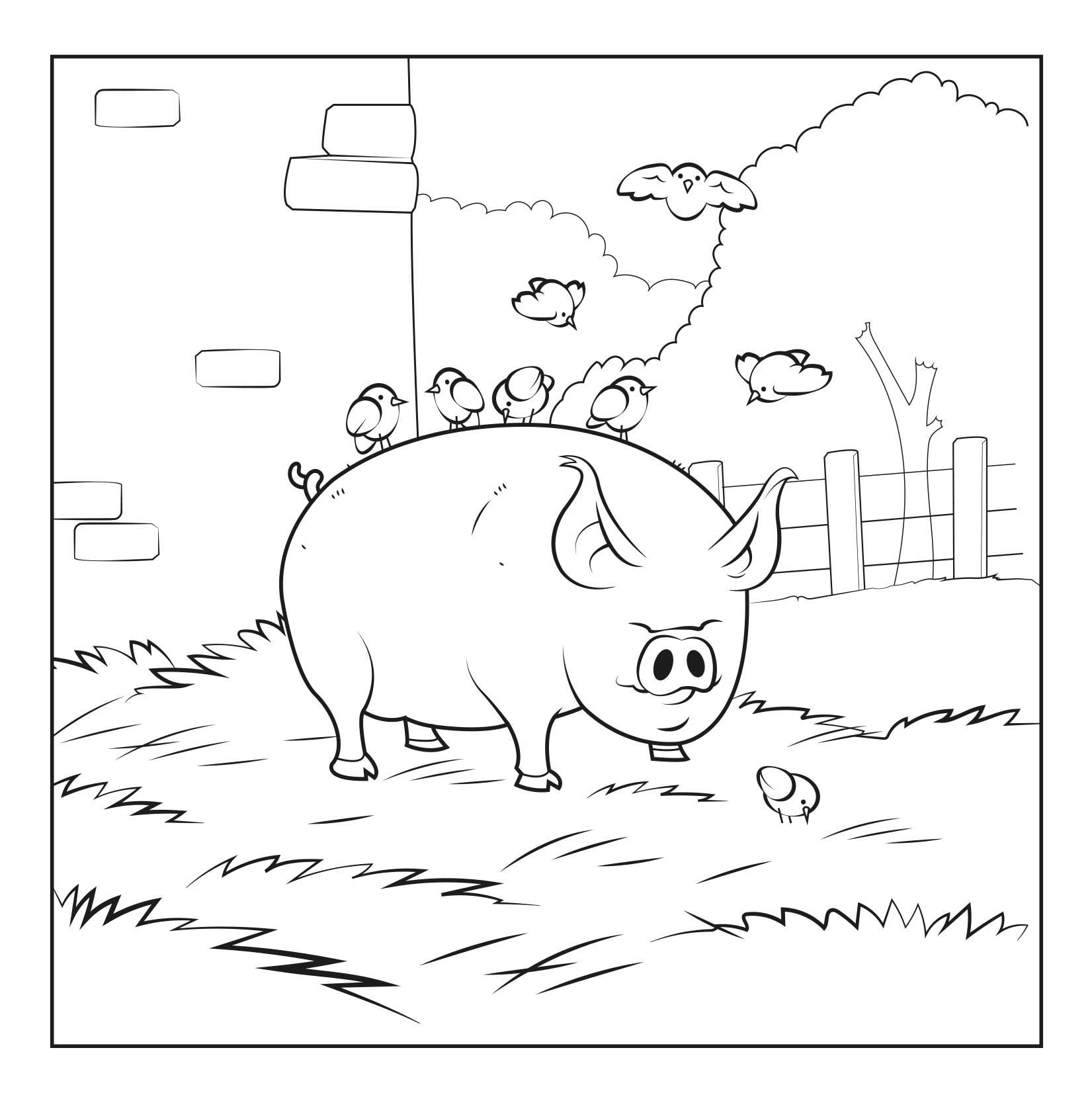 Les animaux sauvés - Carnet de coloriage pour enfants - cochon