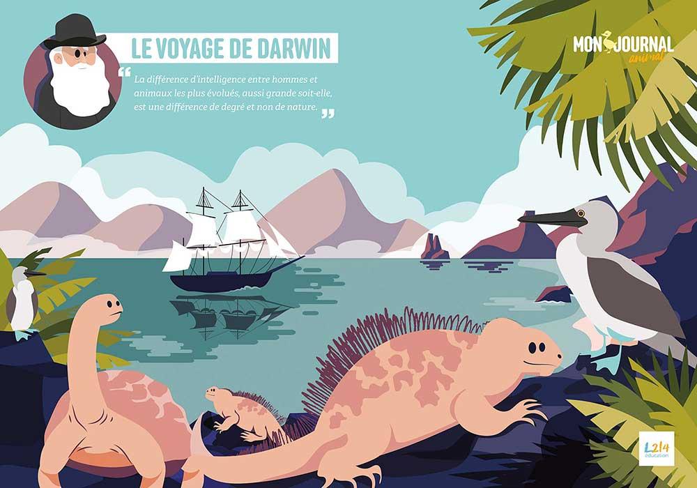 Poster Mon-journal-animal #1 / Le voyage de Darwin