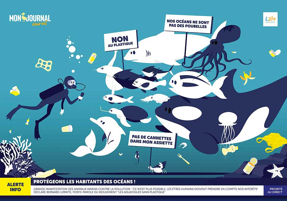 Poster Mon-journal-animal #2 / Un océan de plastique