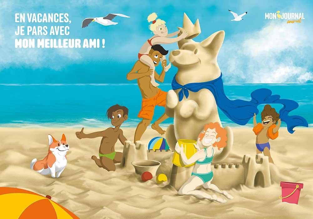 Poster Mon-journal-animal #8 / Animaux en vacances